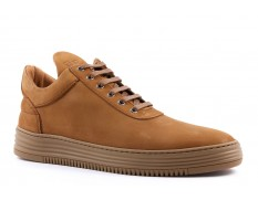 Filling Pieces LOWTOP ALL LEATHER Cacao