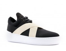 Filling Pieces LOWTOP BANDAGE Nero-Withe